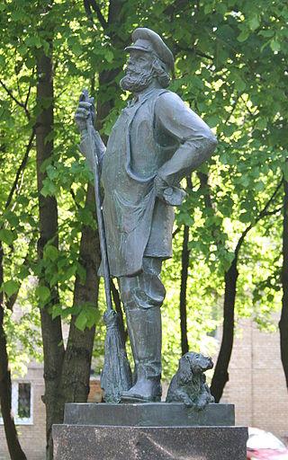 Памятник дворнику в Балашихе