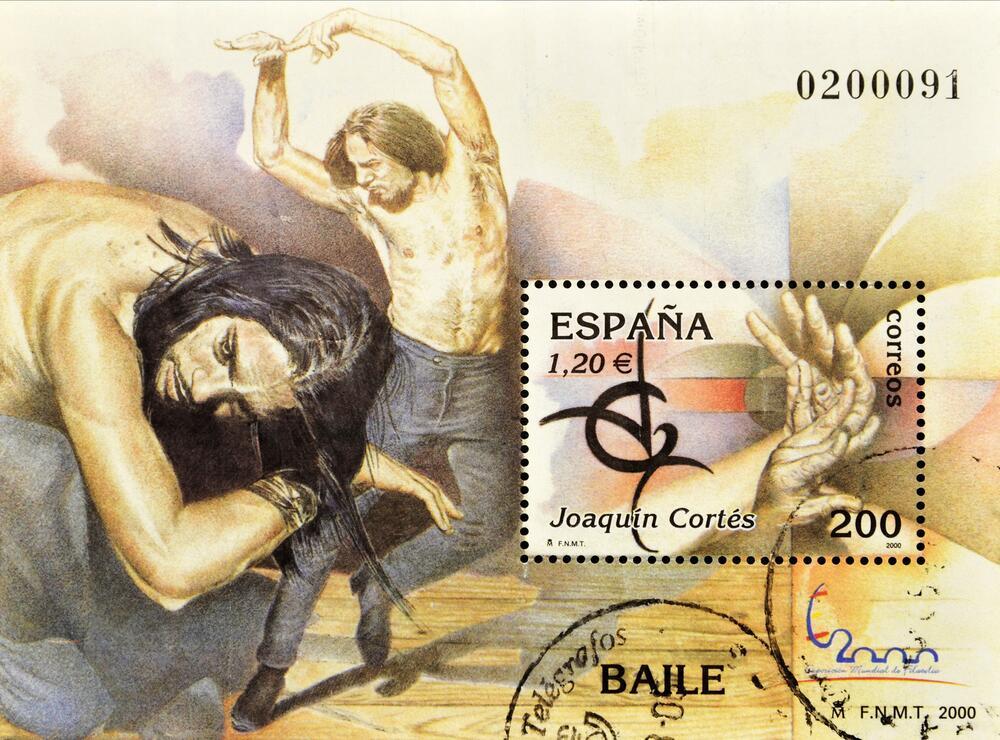 Почтовая марка посвящённая Хоакину Кортесу