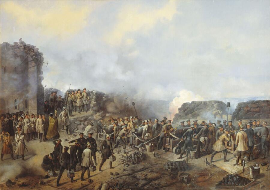 Г. Ф. Шукаев, «Бой на Малаховом кургане в Севастополе в 1855 году»