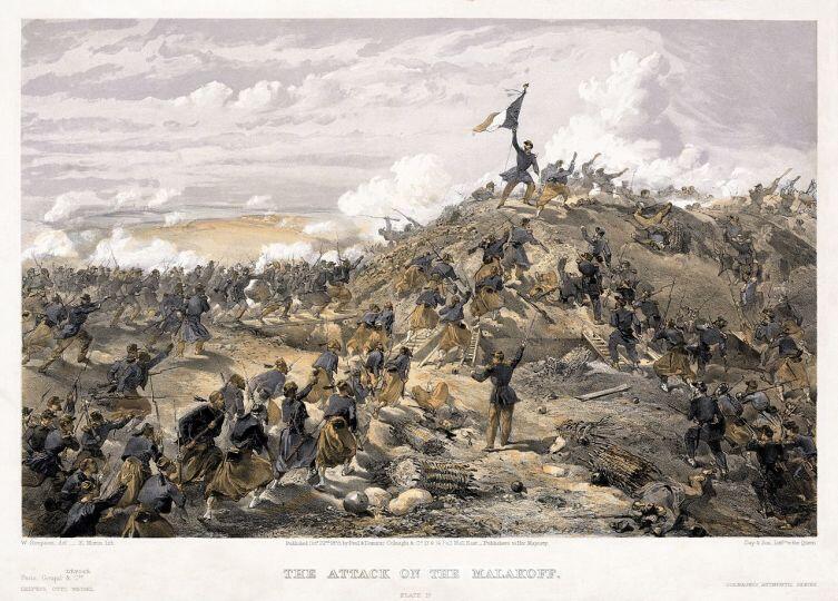 Вильям Симпсон, «Взятие Малахова кургана французскими войсками, 7 сентября 1855 года»