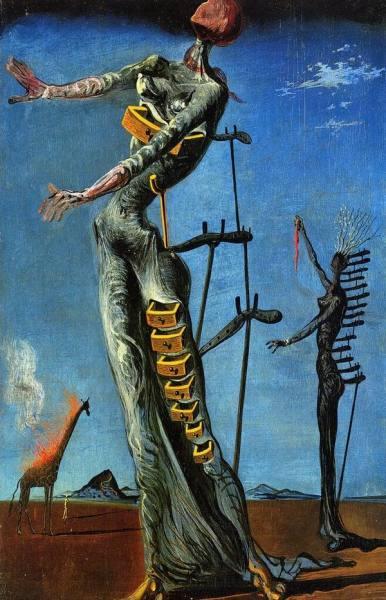 Сальвадор Дали, «Пылающий жираф», 1936—1937 гг.