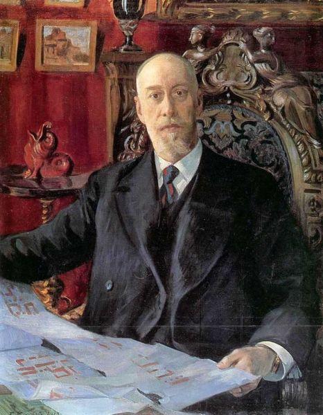 Б. М. Кустодиев, «Николай Карлович фон Мекк», 1913 г.