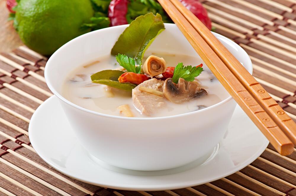 Курино-кокосовый суп