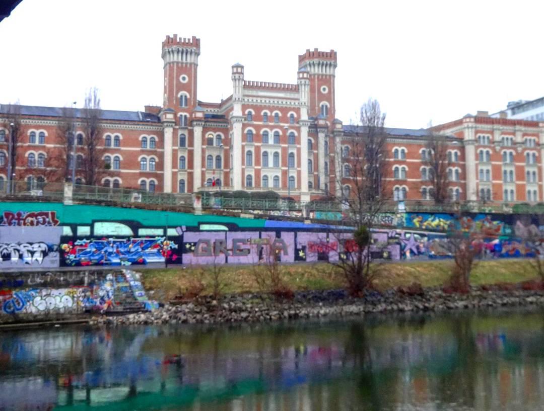 Граффити на Дунайском канале