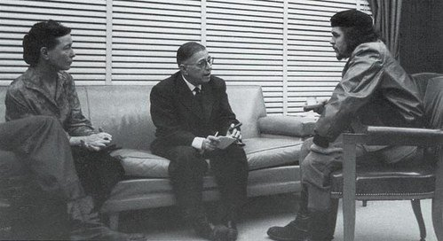 Симона де Бовуар, Жан-Поль Сартр и Че Гевара, 1960 г. Куба