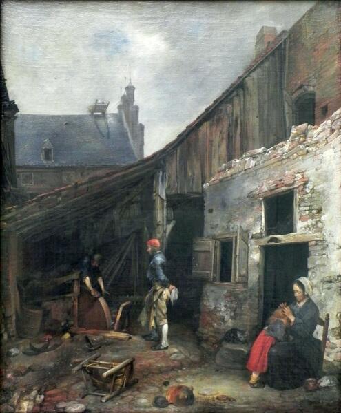 Герард Терборх, «Семья точильщика», 1650 г.