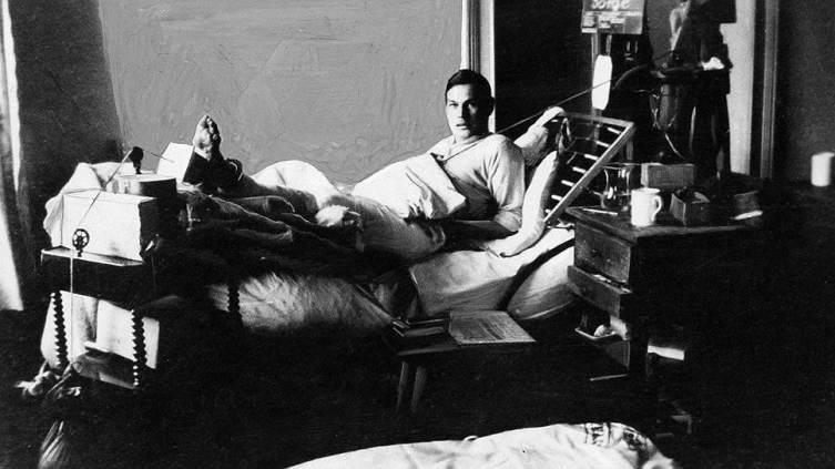 Рихард Зорге в госпитале после ранения. Берлин, 1915 г.