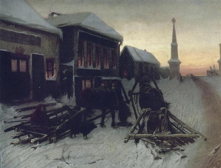 В. Г. Перов, «Последний кабак у заставы», 1868 г.