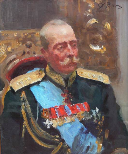 Александр Ольденбургский на эскизе И. Репина