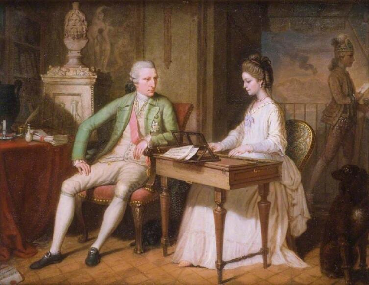 Давид Аллен, «Уильям и Катарина Гамильтон на своей вилле в Позилипо», 1770 г.