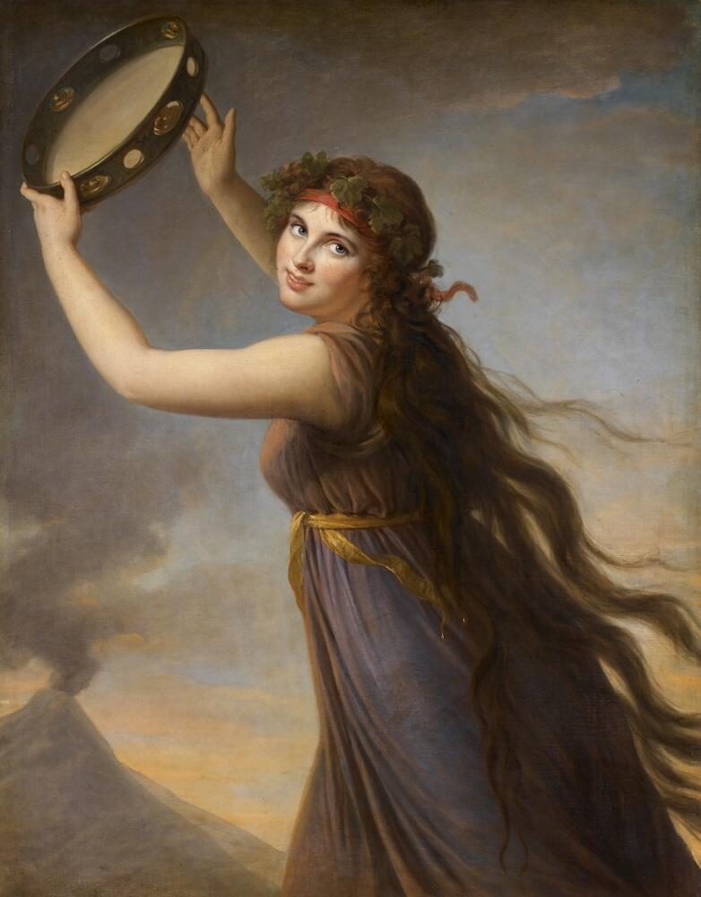 Виже Лебрён, «Портрет Эммы, леди Гамильтон, в виде вакханки», 1790 г.