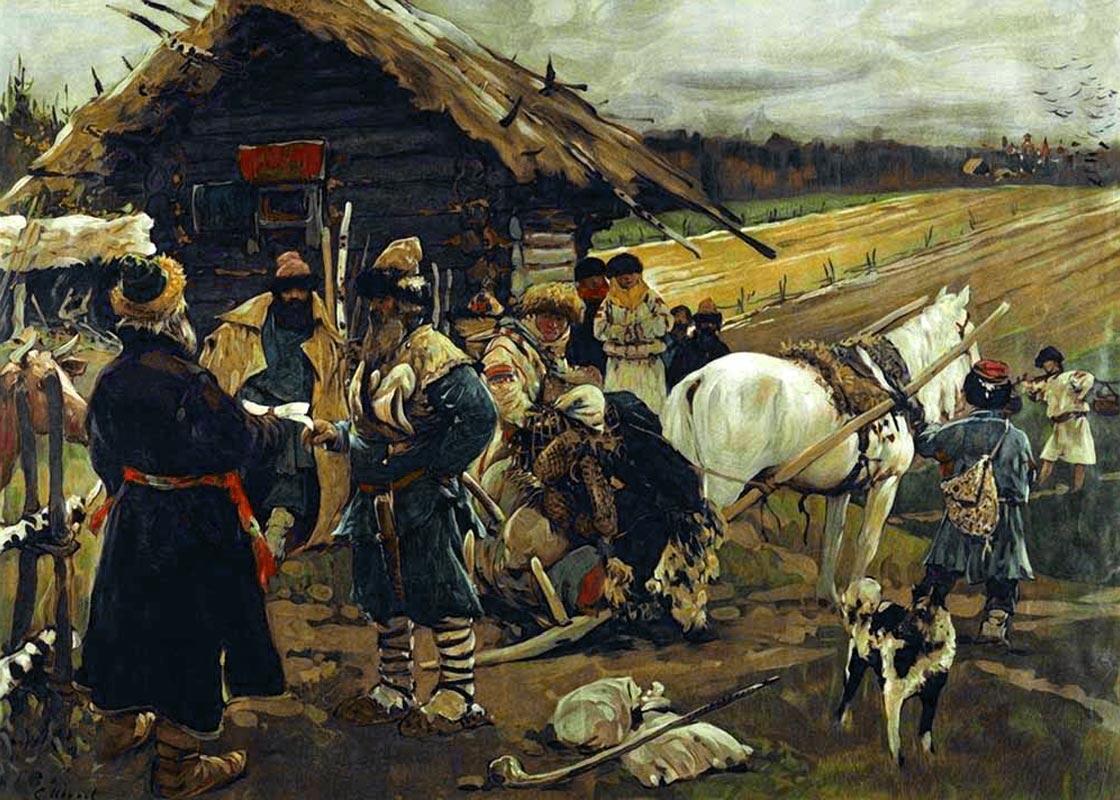 С. Иванов. «Юрьев день». 1908 г.