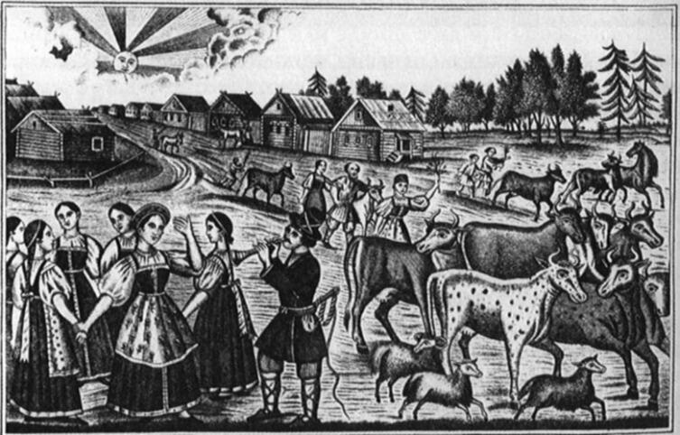 Лубок «Егорий вешний». XIX век