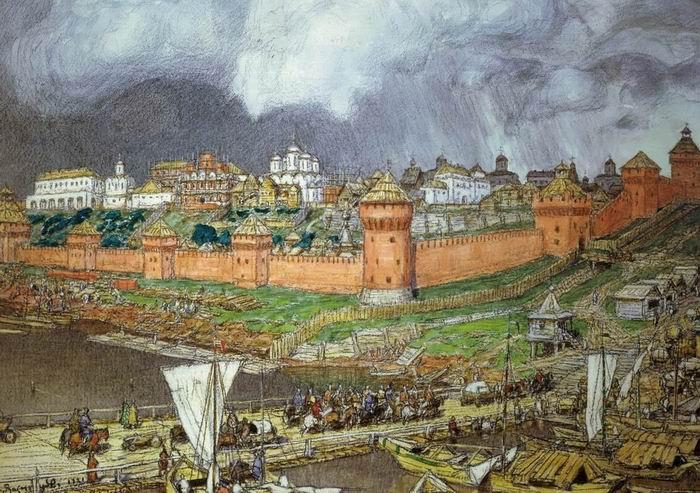 А. М. Васнецов, «Московский Кремль при Иване III», 1921г.