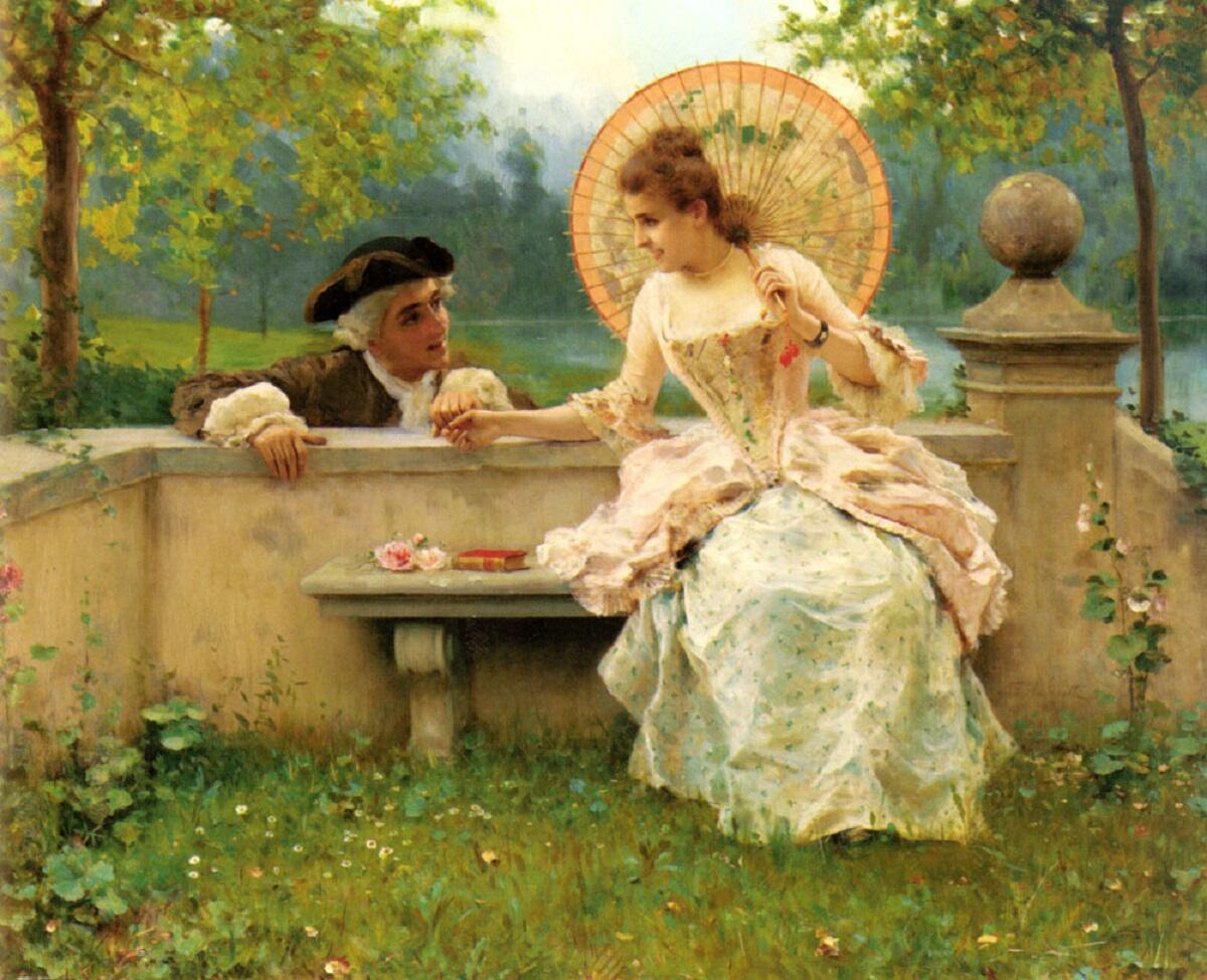 Федерико Андреотти, Трогательная встреча в саду