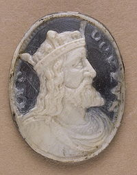 Камея с изображением Хлодвига I в профиль, XIX век