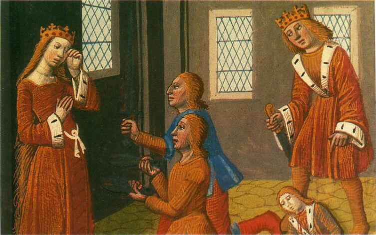 Убийство Теодоальда и Гунтара? миниатюра XV века, автор неизвестен