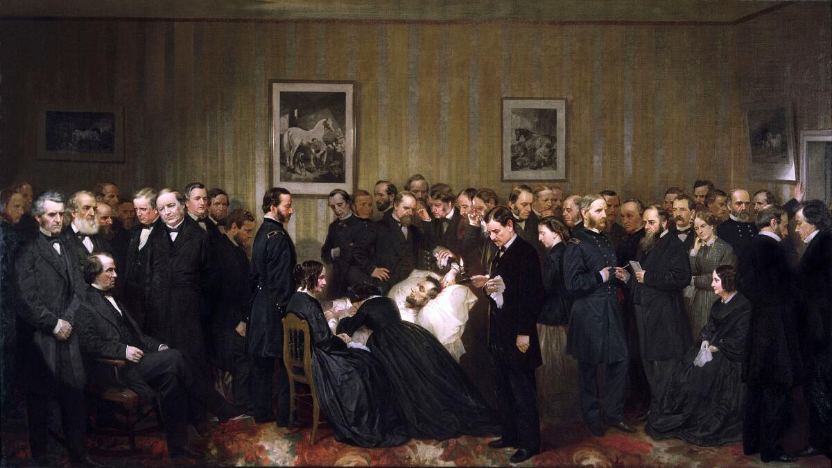 Алонзо Чаппел, «Последние часы жизни Авраама Линкольна», 1868 г.