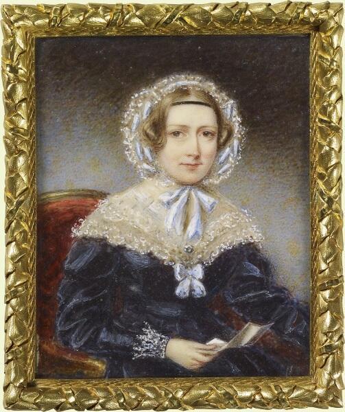 Томас Овертон, портрет герцогини Нортумберлендской, 1839, 20х13 см