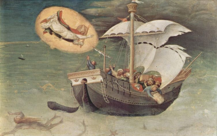 Джентиле да Фабриано, «Спасение моряков», ок. 1425 г.