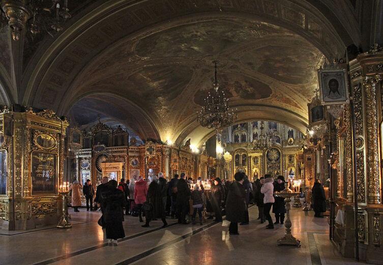 Внутреннее убранство собора, 2012 г.