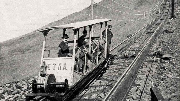 Фуникулёр на вулкане Везувий в 1880—1888 годах
