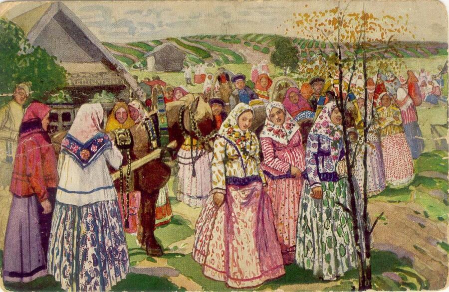 А. Третьяков, «Деревенское гулянье», 1873 г.
