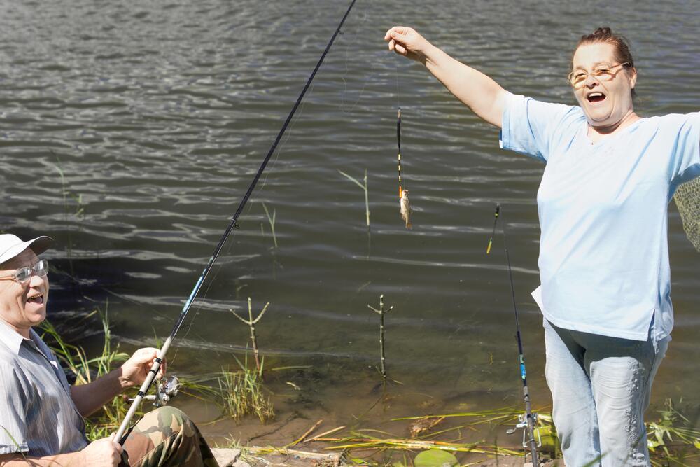 For women: как ловить рыбу?
