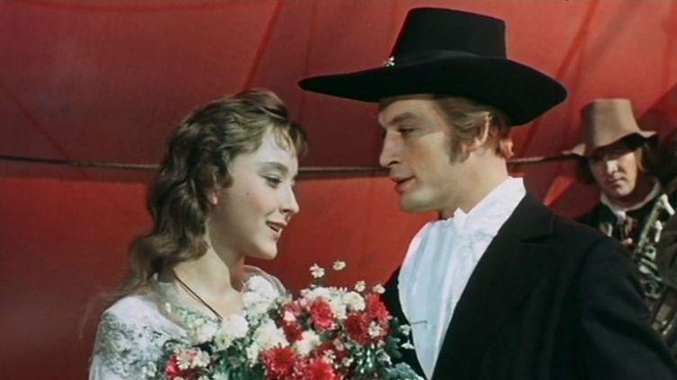 Анастасия Вертинская и Василий Лановой в фильме «Алые паруса», 1961г.