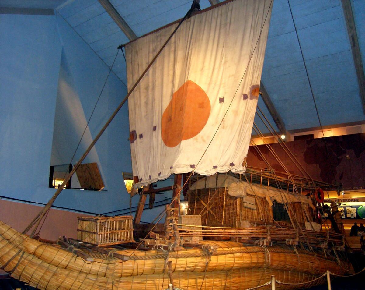 Папирусная лодка «Ра-II». Музей Кон-Тики, Осло, Норвегия