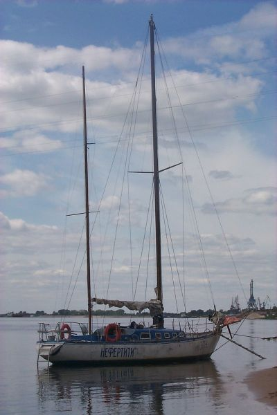 Парусная яхта «Нефертити». Автор снимка Дмитрий Плакунов