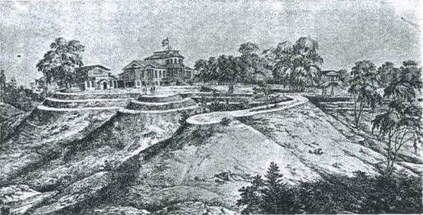 А. Дезарно, «Вид мызы Рябовой», 1822 г.