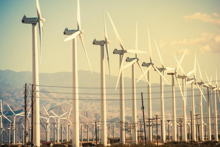 Ветряные электростанции не выделяют в атмосферу вредных веществ