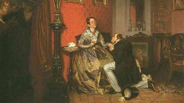 Картина Павла Федотова, «Разборчивая невеста»