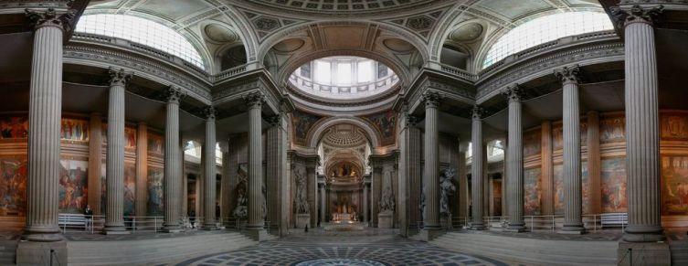 Подражание Римскому Пантеону на территории аббатства Святой Женевьевы в Париже