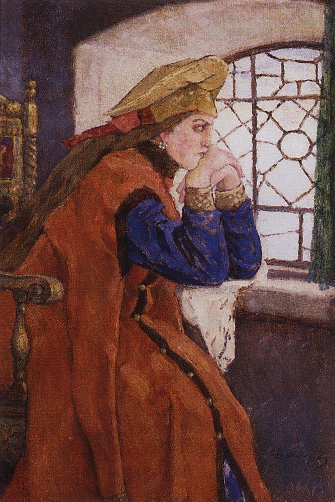 В. М. Васнецов, «Царевна у окна», 1920 г.