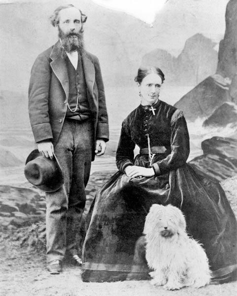 Максвелл с женой Кэтрин Мэри, 1869 г.