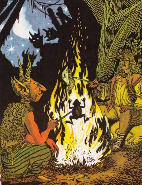 Сказка «Как Янош священника перехитрил», иллюстрация из книги «Угорські народні казки»