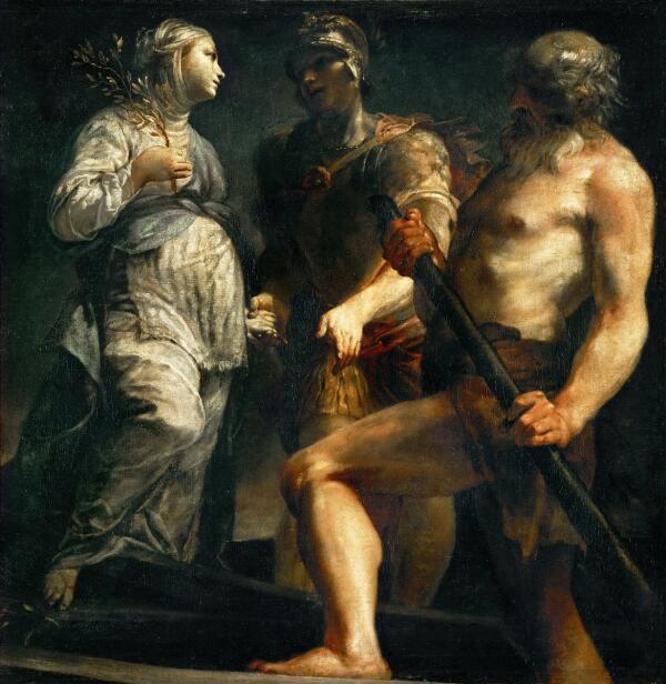 Джузеппе Креспи, «Эней, Сивилла и Харон», 1695 г.