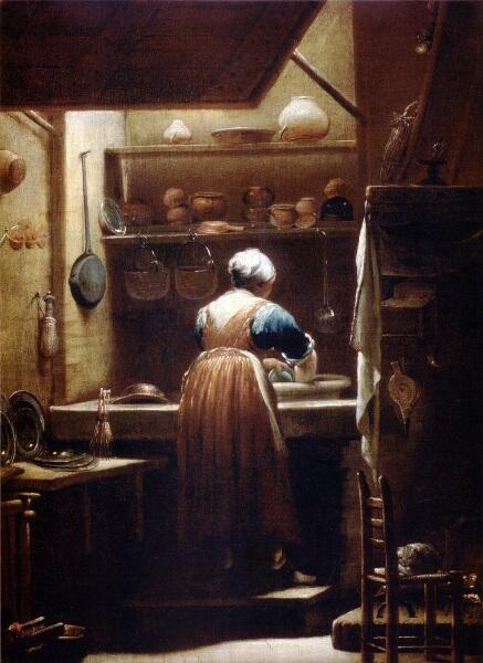 Джузеппе Креспи, «Посудомойка», 1712 г.