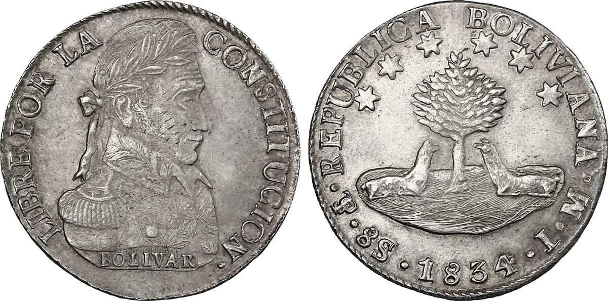 Симон Боливар на монете