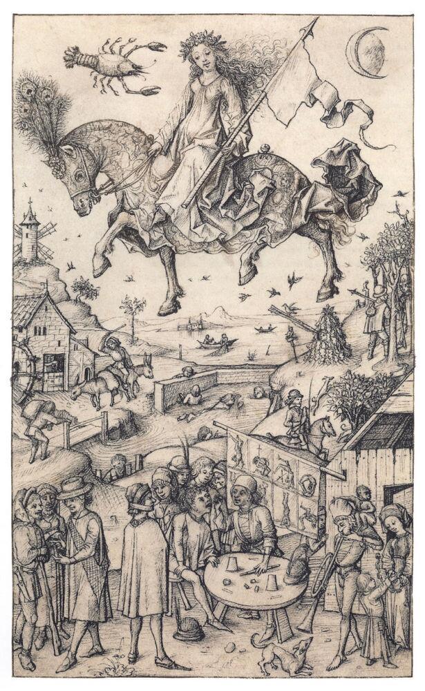 «Луна и её дети», иллюстрация из средневековой германской книги, 1480 г