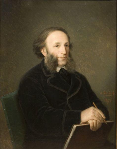 Д.М. Болотов, «Портрет Ивана Айвазовского», 1876г.
