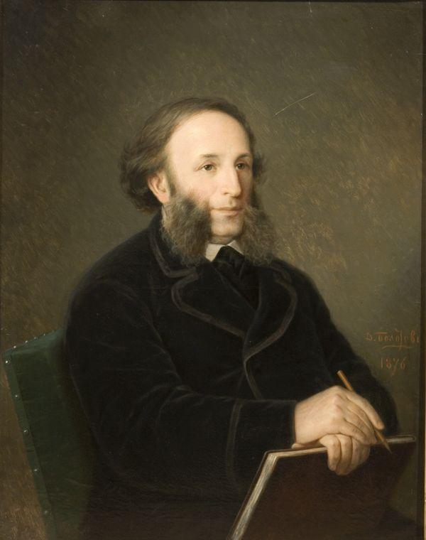 Д.М. Болотов, «Портрет Ивана Айвазовского», 1876 г.