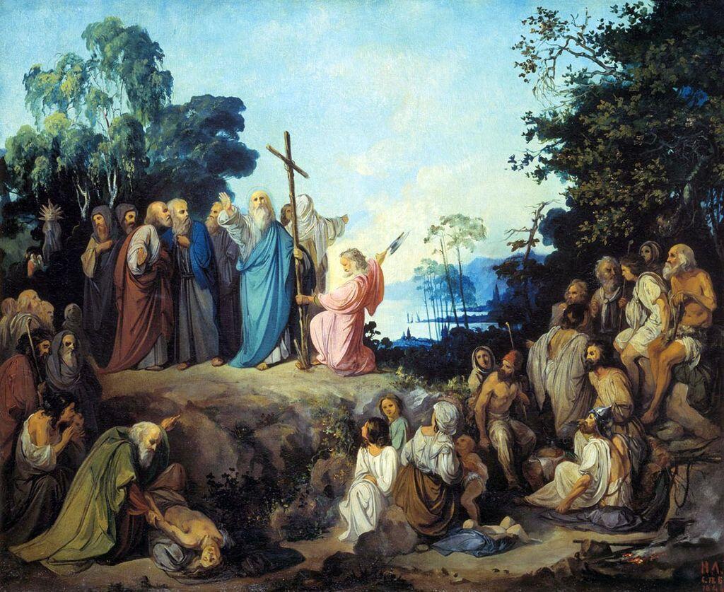 Николай Ломтев, «Апостол Андрей Первозванный водружает крест на горах Киевских»