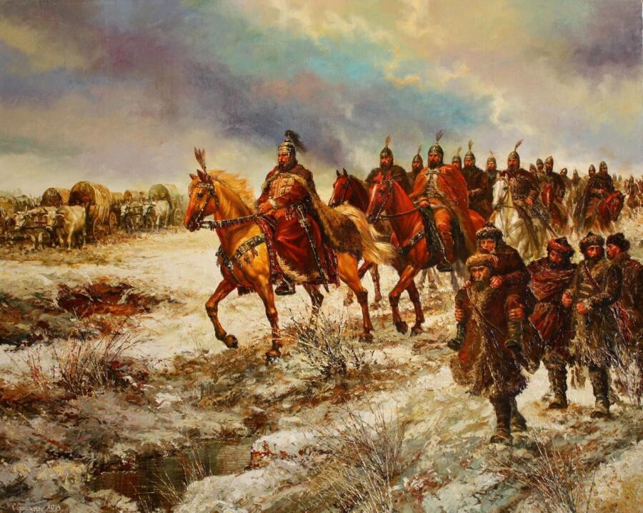 Васил Горанов, «Переселение болгар во главе с ханом Аспарухом»