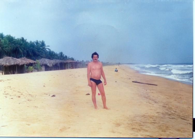 Автор в период пребывания в Либерии. Монровия, 1987 год