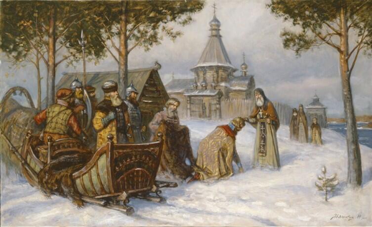 И.Г. Машков, «Паломничество великого князя Василия Темного в Ферапонтов монастырь»