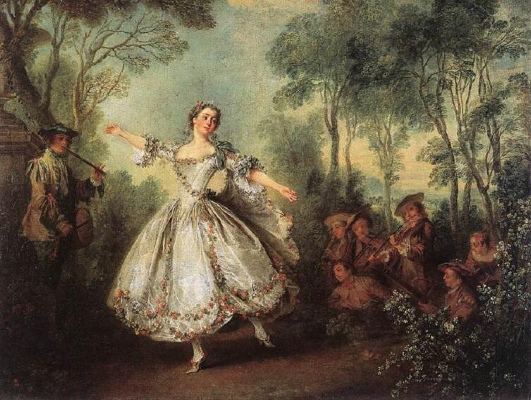 Николас Ланкре, «Танцует мадмуазель Камарго», 1730 г, 42х55 см, Собрание Уоллеса, Лондон, Англия