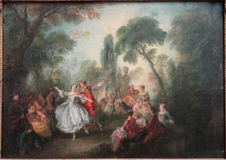 Николас Ланкре, «Танцует мадмуазель Камарго», 1730 г., 76х106 см, Национальная галерея искусств, Вашингтон, США